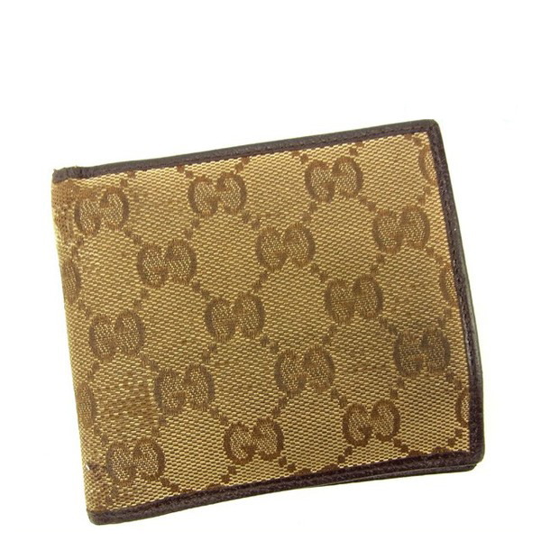 102dccae9bef Gucci Wallet Purse Bifold GG Beige Brown Woman unisex Authentic Used ...