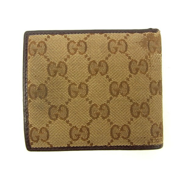 dd2a0a2c18b Gucci Wallet Purse Bifold GG Beige Brown Woman unisex Authentic Used ...