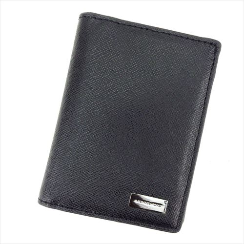 de44dfa3f53e Details about Michael Kors Wallet Purse Bifold Black Silver leather Mens  Authentic Used G1258