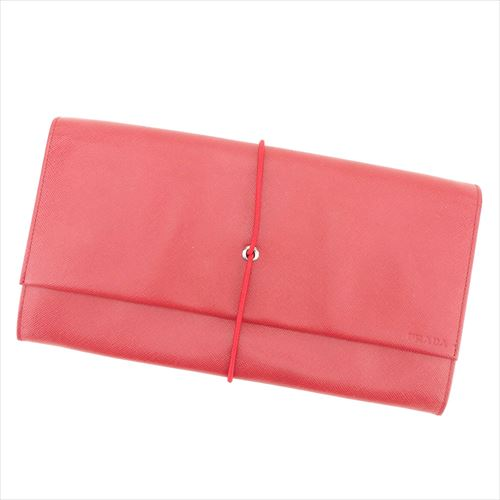 d27dc055bbab Prada Clutch bag Red leather Woman unisex Authentic Used T9282 | eBay
