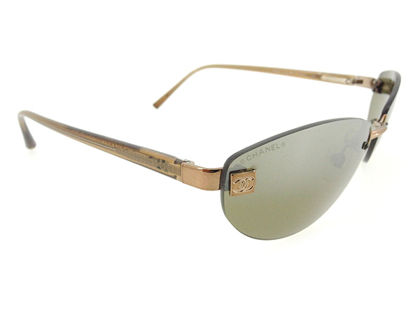 f31eb9d5f2 3 of 6 Chanel sunglasses COCO Brown Gold Woman unisex Authentic Used T1633